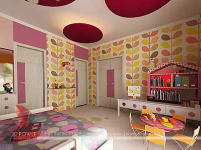 childern bedroom 3d interior design