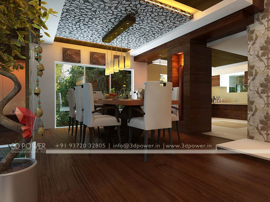 Bungalow Interior Decorators Chennai Designers: Gallery - 3D Architectural Rendering