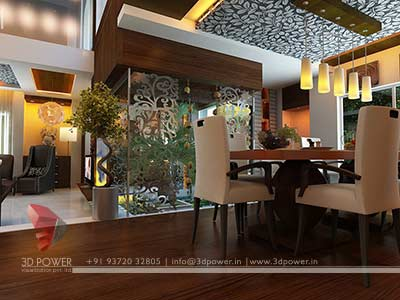 modern interior dinning room house