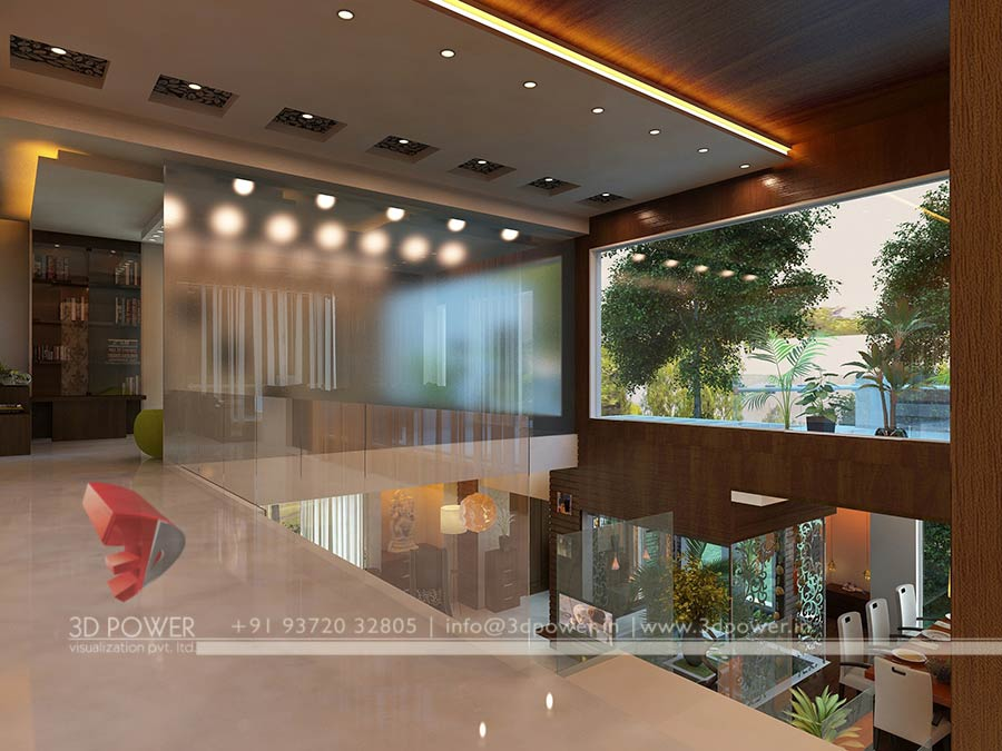 Gallery interior 3d rendering 3d interior for Modern house design inside