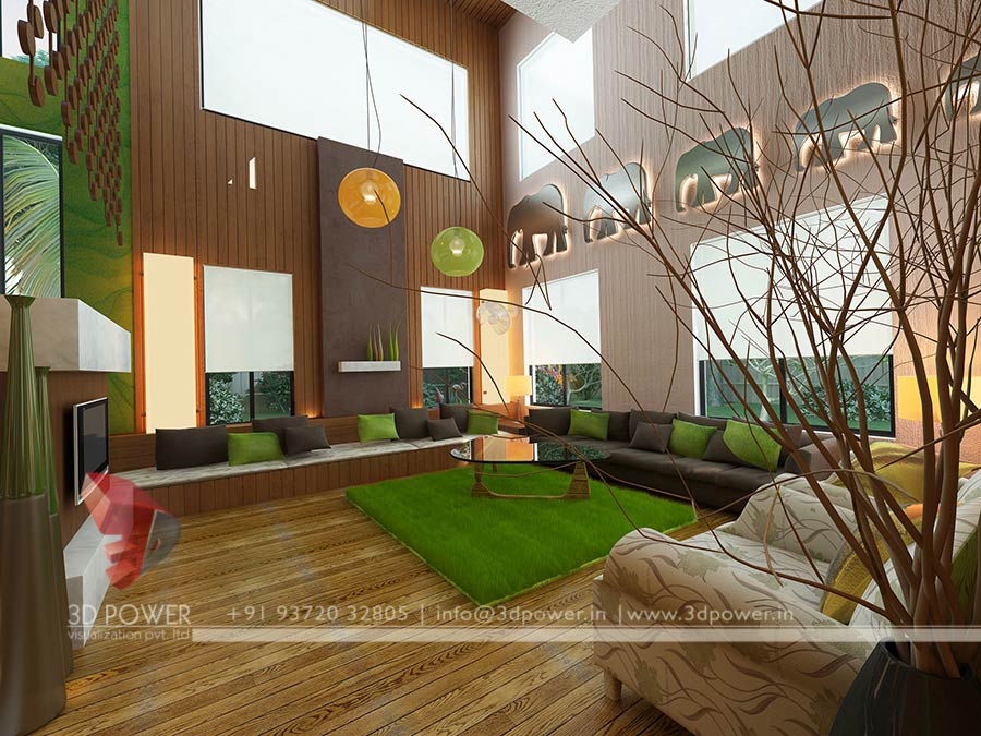 Elegant Hall Interior Design 3d Part 31