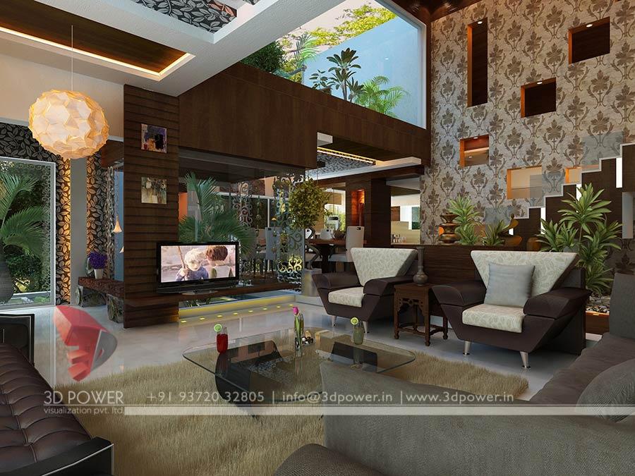 Living Room Interior Villa Render