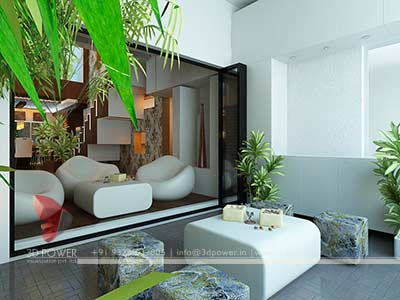 Living Hall 3d interior design