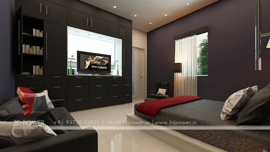 Bungalow 3d Master Bedroom Design · Bedroom Interior Design