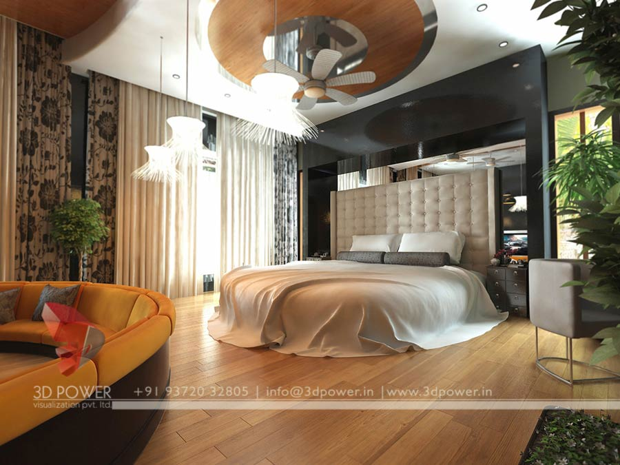 Amazing Gallery 48D Rendering Services 48D Architectural Rendering Enchanting 3D Design Bedroom