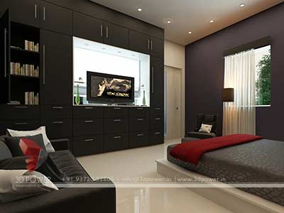Bungalow 3d master bedroom design