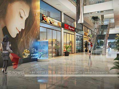 Shopping Mall 3d design render