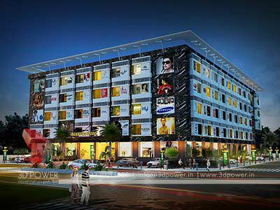 Shopping mall complex 3d design