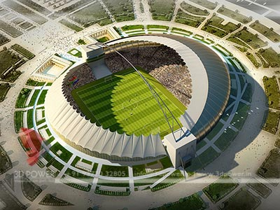 stadium 3d design rendering