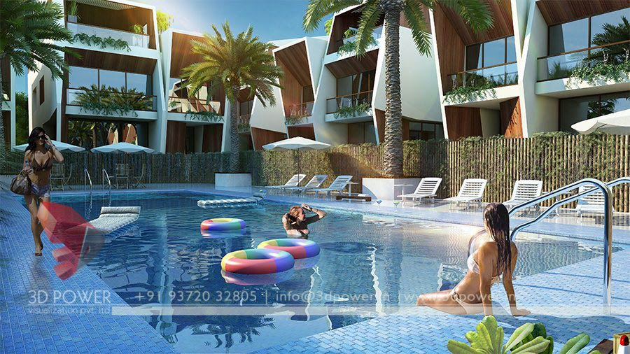 Gallery 3d architectural rendering services 3d for 3d pool design online