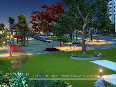 children's play area township design 3d