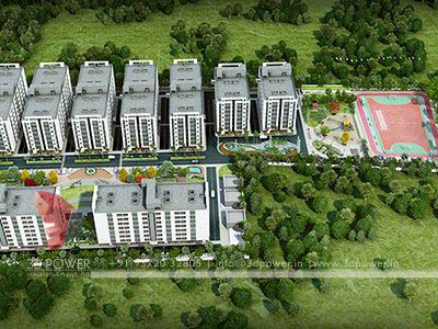 contemporary township birds eye view design