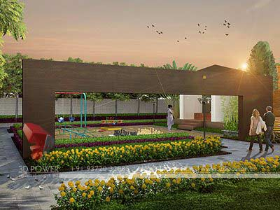 garden area township 3d design