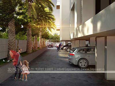parking zone 3d design rendering