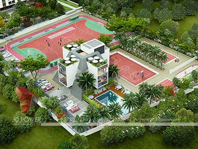 play area township 3d render