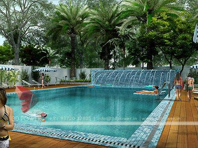 swimming pool township render