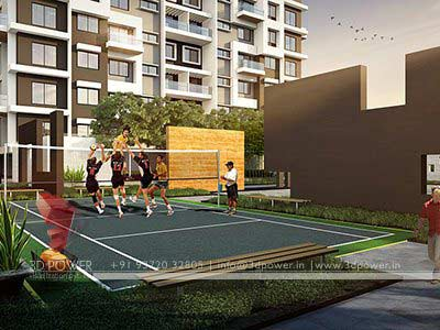 tennis court 3d design