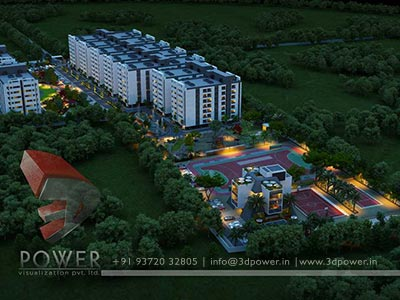 township aerial view design 3d