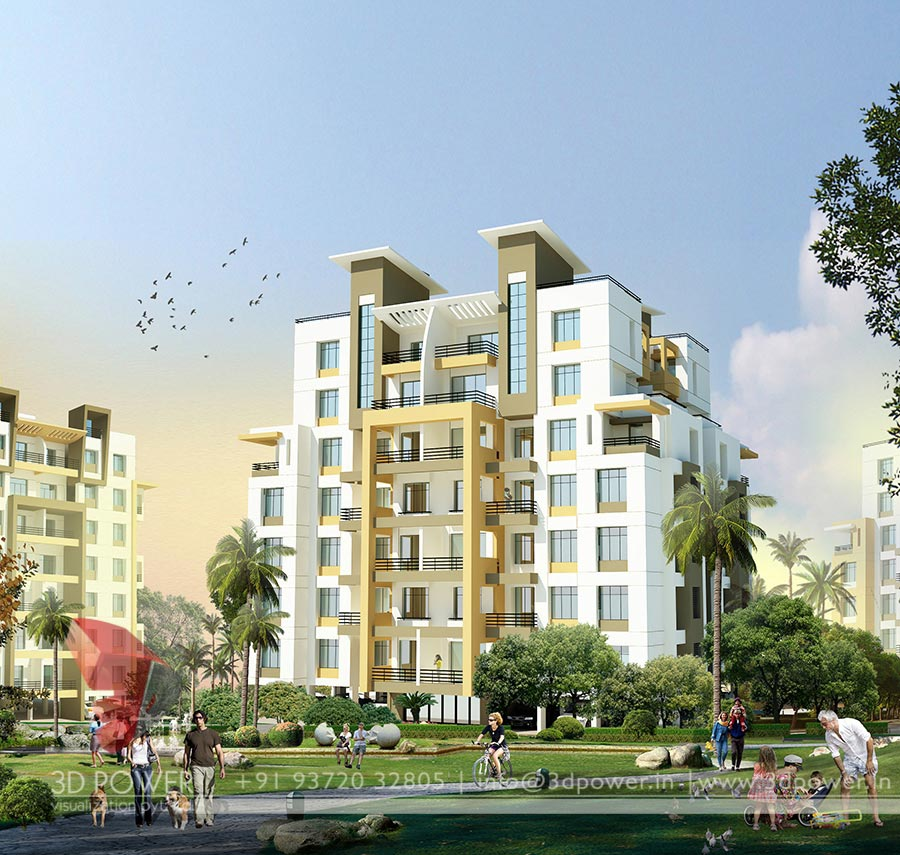 Apartment Tower Rendering: Gallery - 3D Architectural Rendering