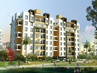 apartment exterior rendering 3dpower