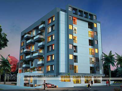 apartment rendering 3d view