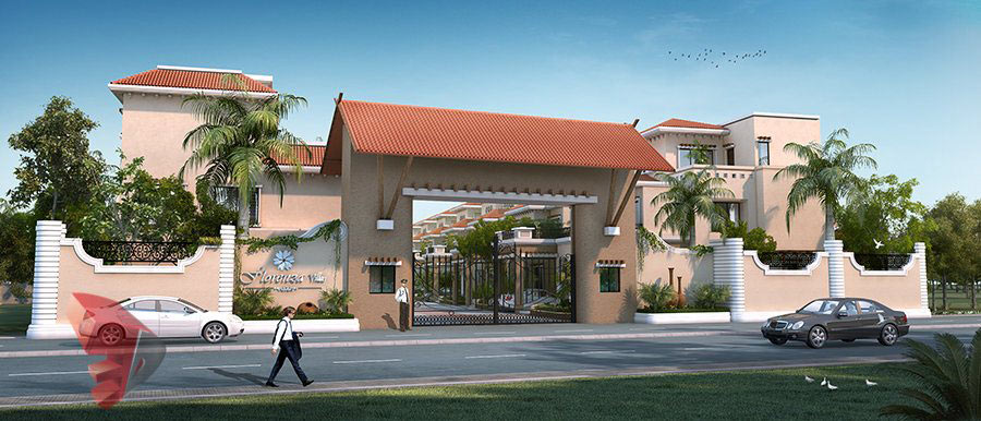 Gallery 3d architectural rendering services 3d for Apartment villa design