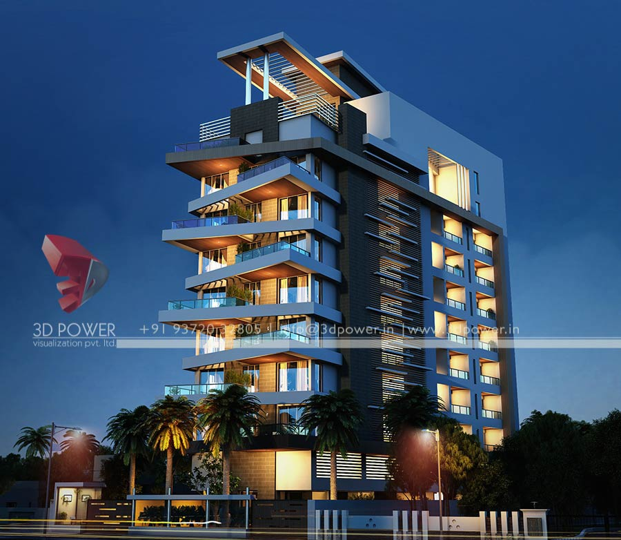 High Rise Apartment Design Exterior 3d apartment design exterior architect building bungalow