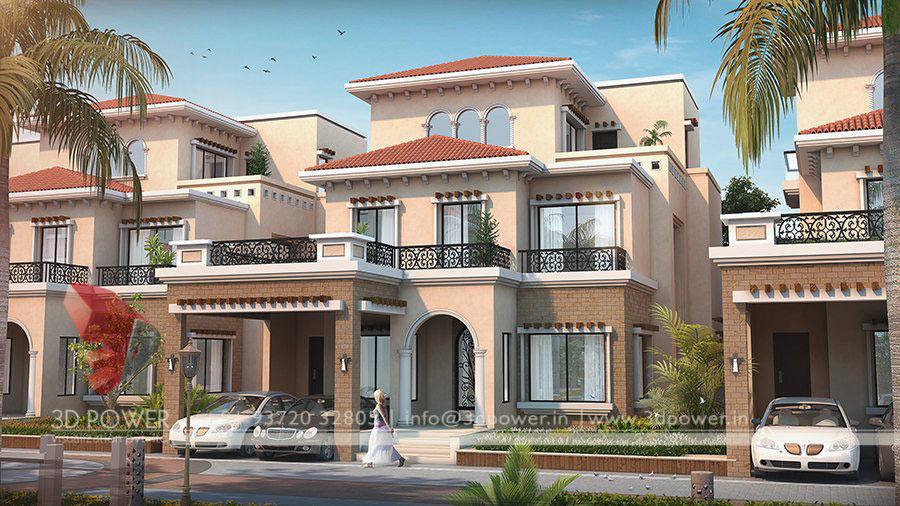 Front Design Of Row House Part - 36: Villa Design. ...