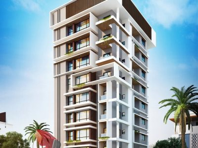 3D-apartment-parking-high-rise-rendering-elevation