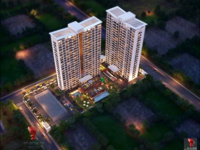 Architectural-3D-Rendering-3D-Walkthrough-Graphic-Designing-company-night-view-with-lightining-effect