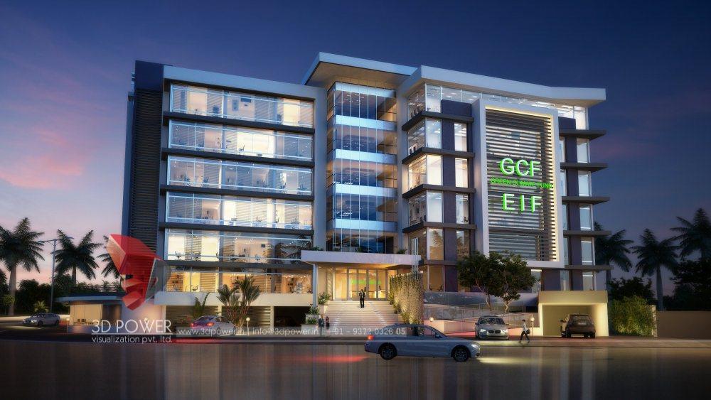 Architectural visualization company 3d visualization - Exterior building design pictures ...