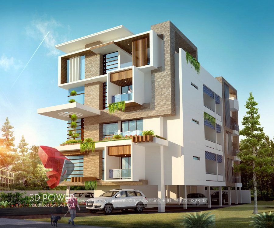 Ordinary Building Design Part - 4: 3D Rendering Architectural 3d Rendering Apartment Renderings Architectural  Visualization