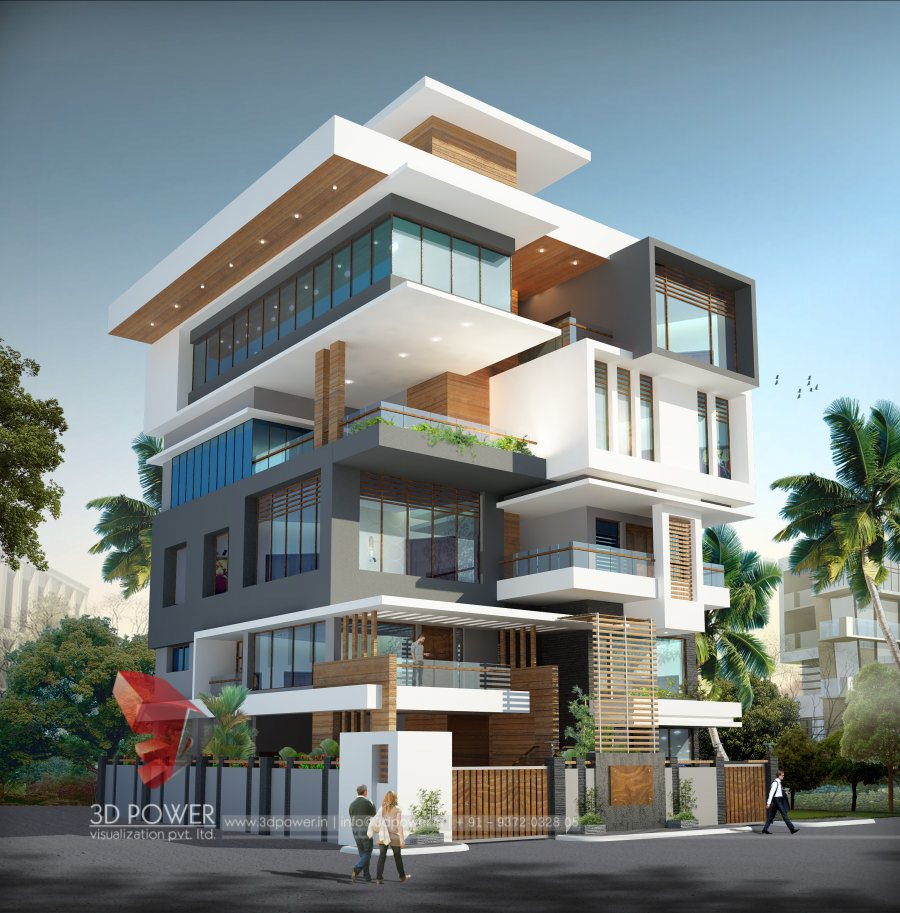 Architectural apartment rendering 3d power for Design a building