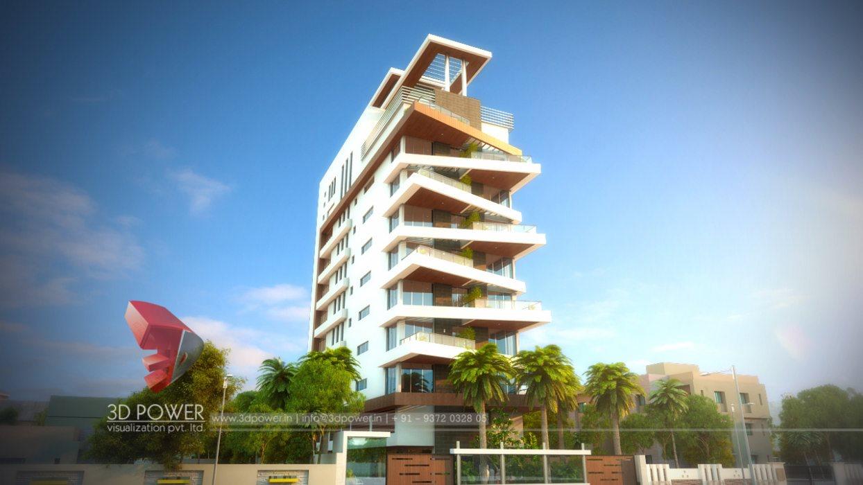 3D Contemporary Apartment Design  Apartment Design Rendering  3D Power