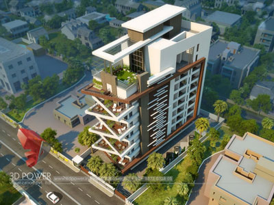 3D Architectural apartments Elevation