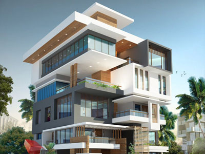 3d architectural building design