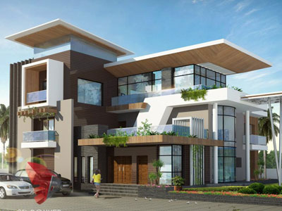 3d architectural building designs