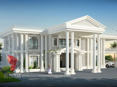 3d architectural building visualization