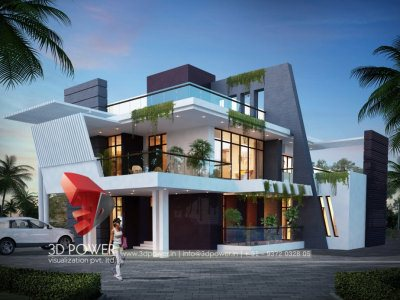 bungalow 3d architectural exterior visualization rendering