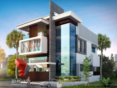 modern bungalow 3d architectural exterior rendering