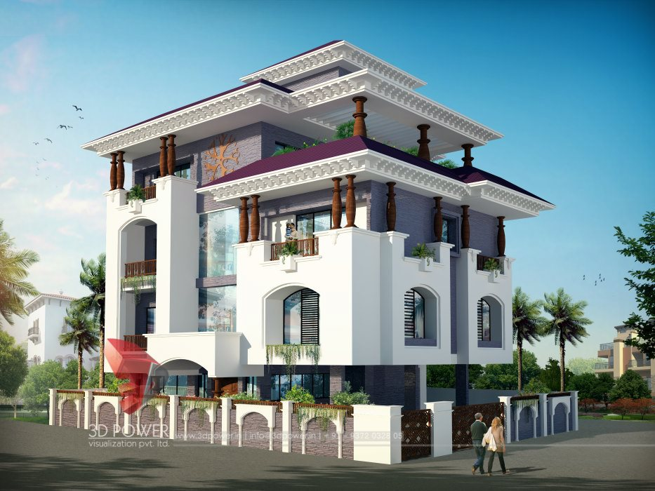 Architectural villa rendering architectural rendering for Home design 3d gratis italiano