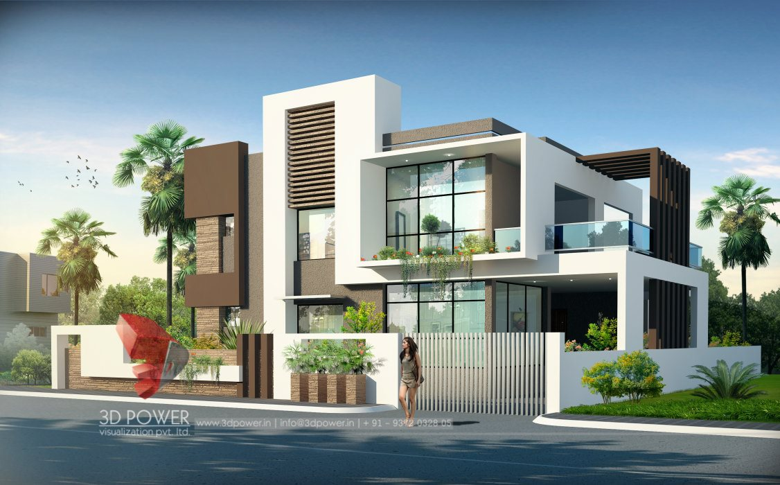 Lovely ... 3d Bungalow Rendering Model Good Looking