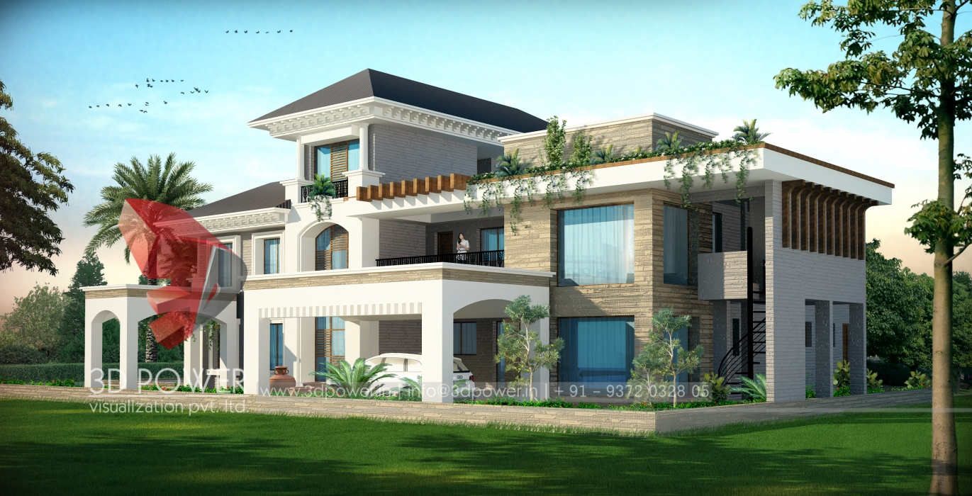 Elegant Architectural Villa Visualization Villa Design Architecture ...