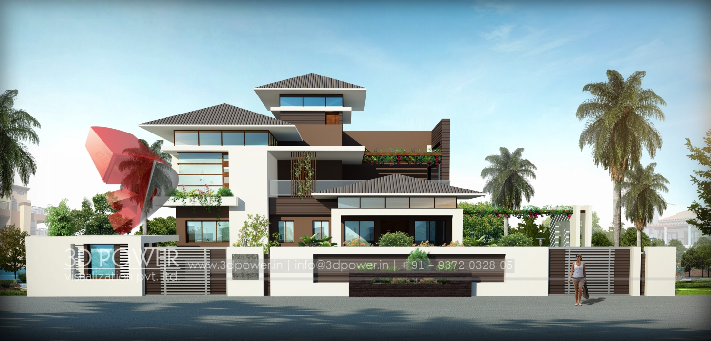 3d front view visualization 3d front elevation 3d power - Architecture and design ...