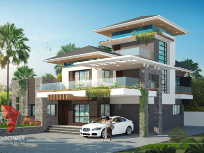 3D Architectural villa Animations