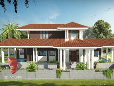 3D Architectural villa Cut Section