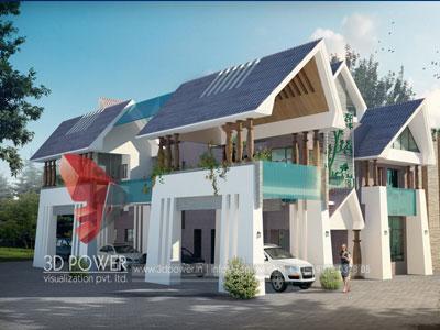 3D Architectural Villa Floor Plan