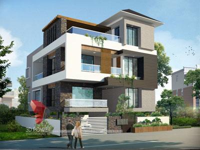3D Architectural villa Floor Plans