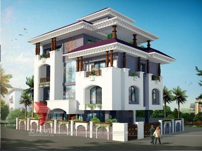 3D Architectural villa Render