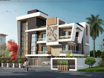3D Bungalow Design Architecture